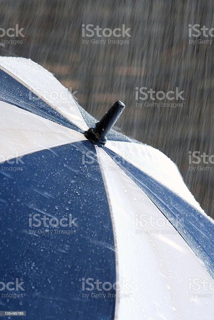 Torrential rain royalty-free stock photo