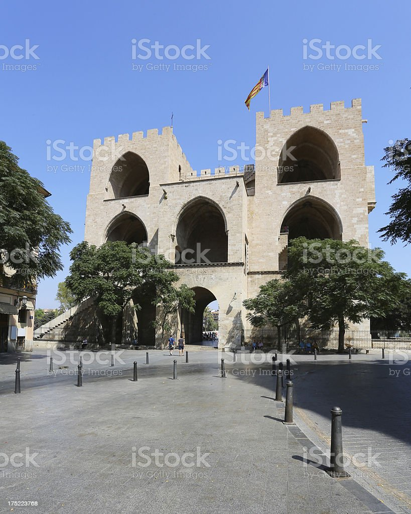 Torres de Serranos, Valencia stock photo