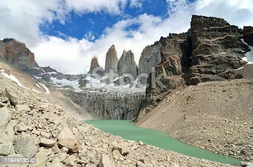 Torres del Paine, Chile - Laguna Torres, famous landmark of Patagonia, South America