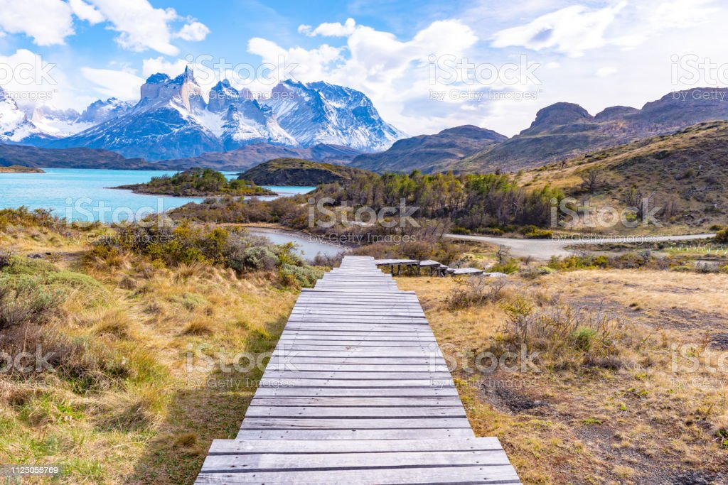 Parque Nacional Torres del Paine, Chile stock photo
