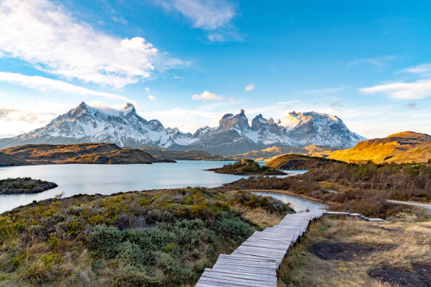 Torres del Paine National Park, Chile. (Torres del Paine National Park) stock photo