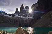 Torres del Paine, National Park - Laguna Torres, famous landmark of Patagonia, Chile