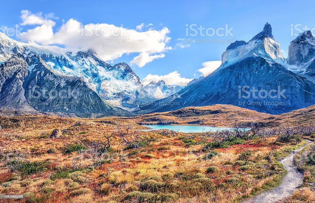 Torres del Paine National Park stock photo