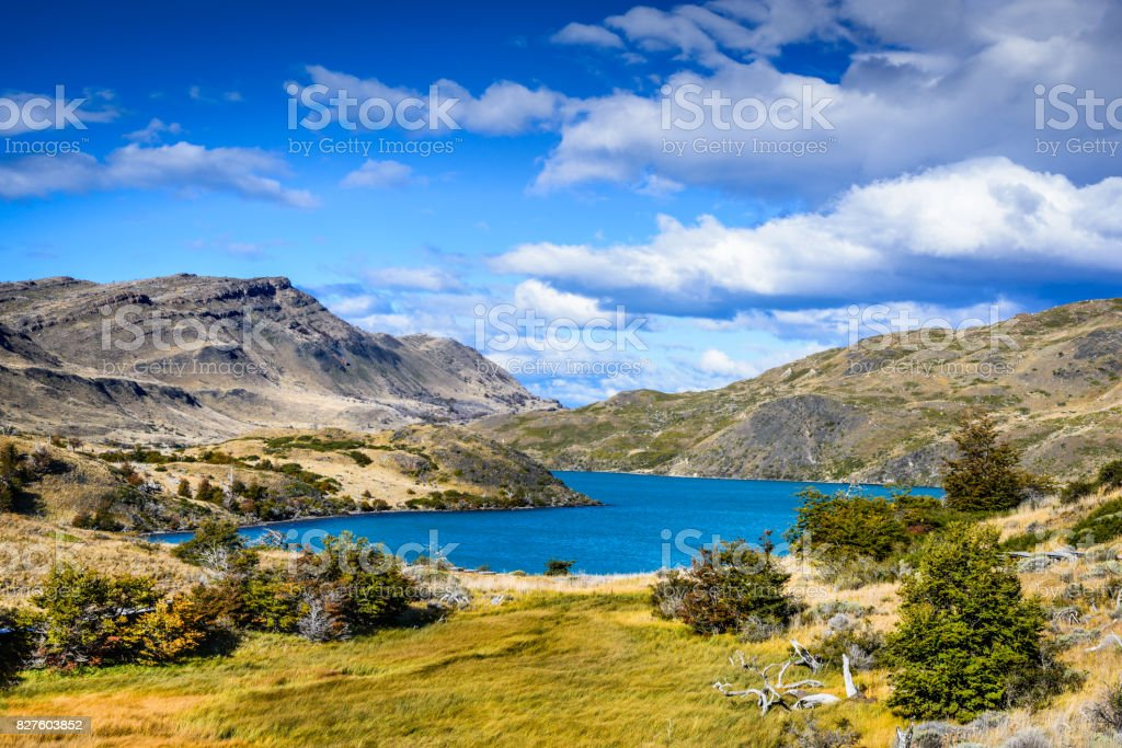 Torres del Paine Patagonia Chile stock photo