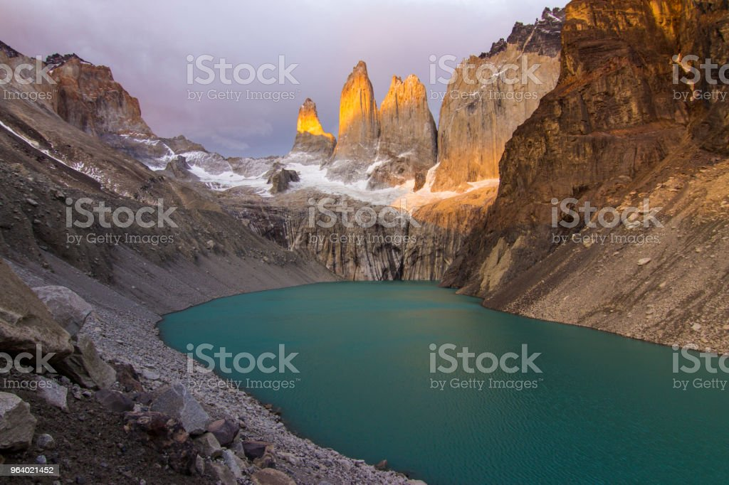 Torres del Paine Sunrise, amazing colors - Royalty-free Andes Stock Photo
