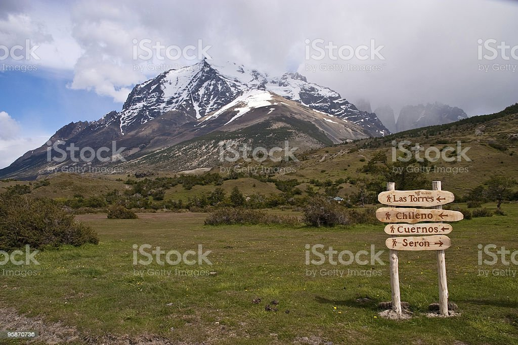 Torres del Paine - Trails royalty-free stock photo