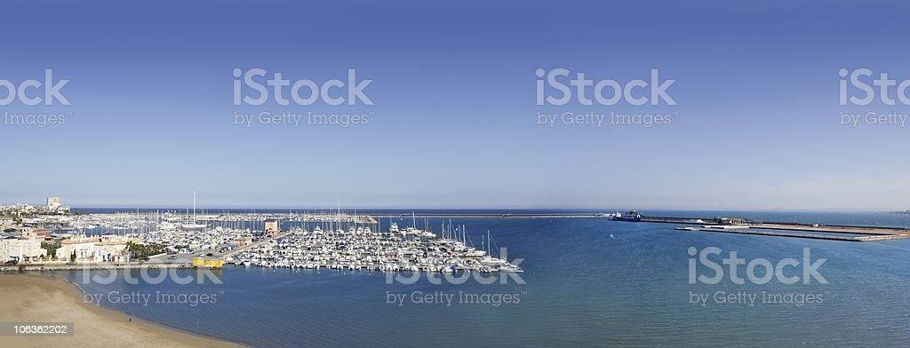 Torrevieja Alicante aerial panoramic mediterranean sea royalty-free stock photo