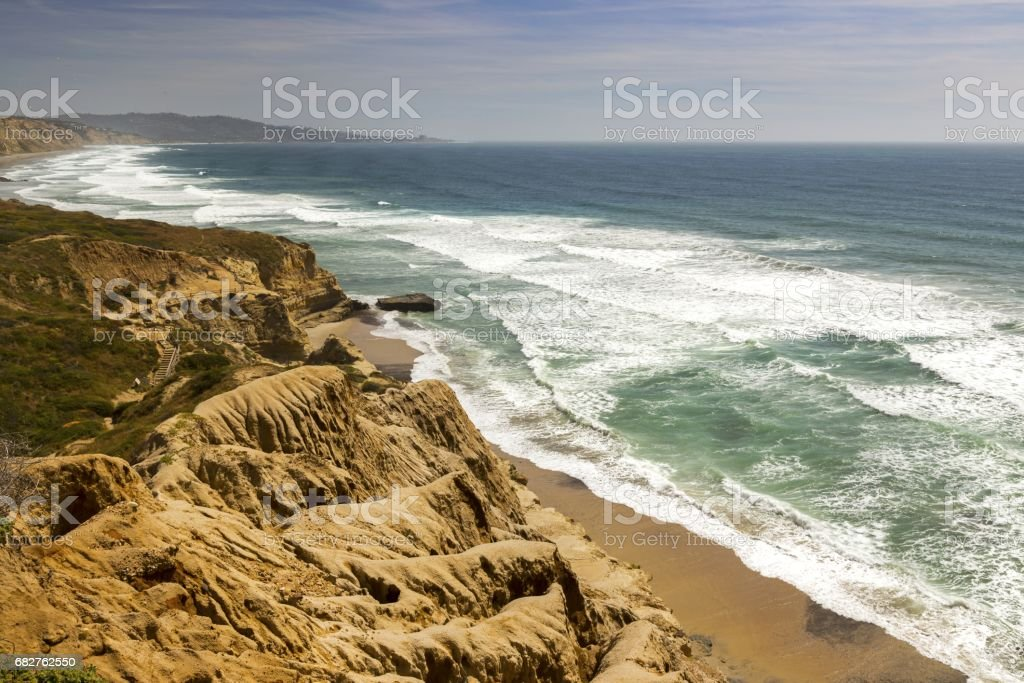 Torrey Pines and California Coastline stock photo