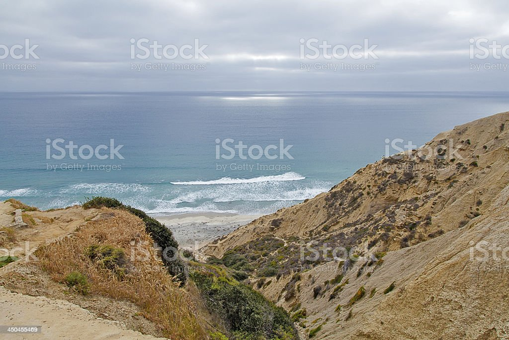 Torrey Pines Beach stock photo