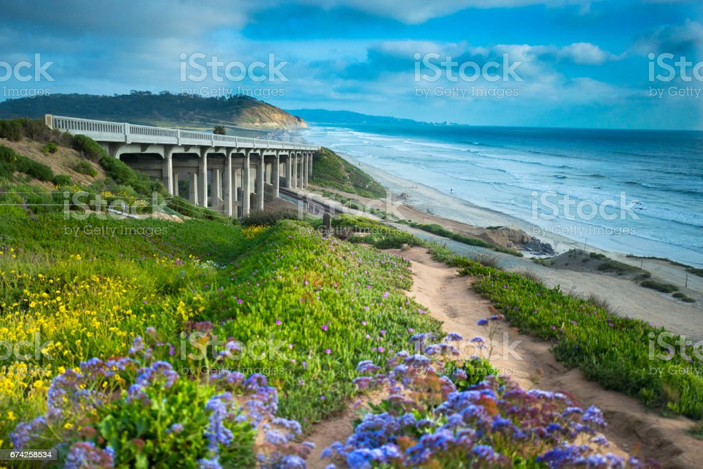 Torrey Pines Bridge California stock photo