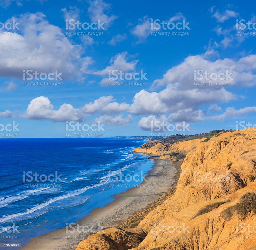 Torrey Pines State Natural Reserve, Pacific Ocean, CA,(P) stock photo