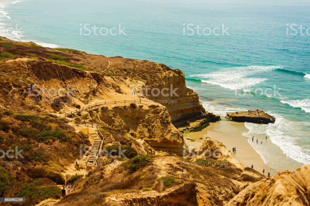 Torrey Pines State Reserve with Black's Beach, San Diego stock photo