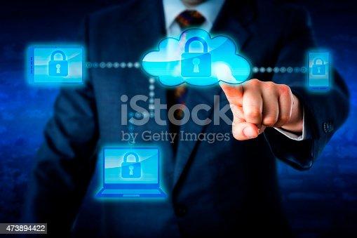 488497362 istock photo Torso Locking Mobile Devices Via A Cloud Network 473894422