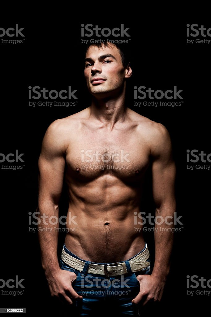 torso man stock photo