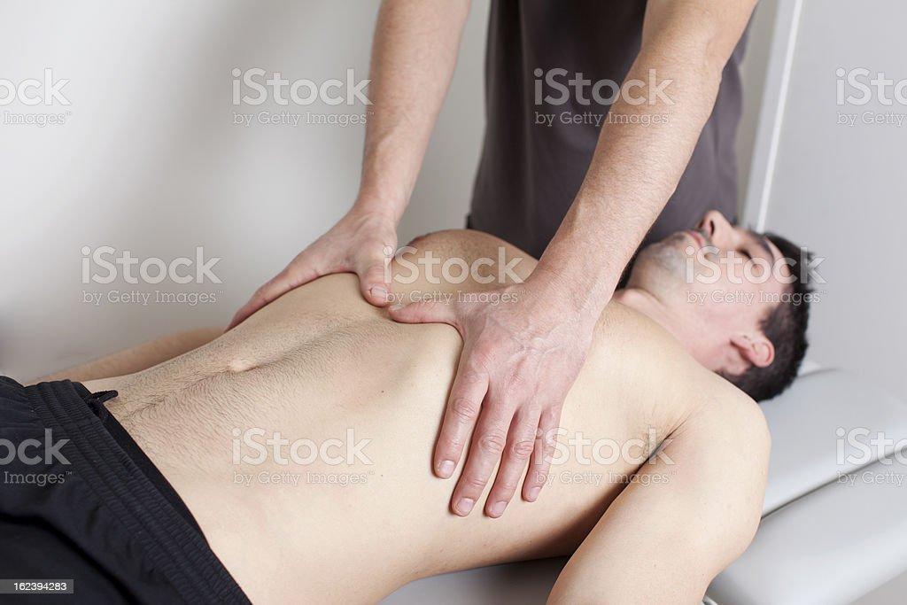 Torso massage royalty-free stock photo