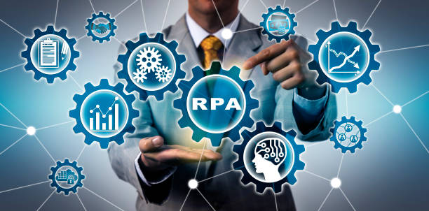 Torso Of IT Manager Activating RPA Application stock photo