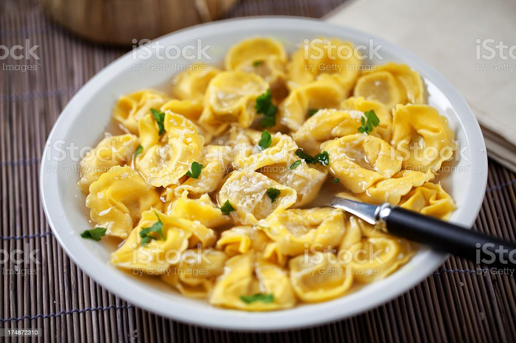 Tortellini In Bouillon royalty-free stock photo