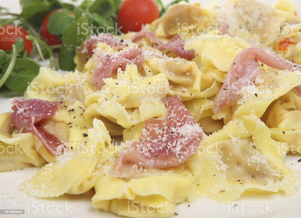 Tortellini Pasta With Parma Ham Stock Photo Download Image Now Istock