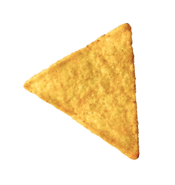 tortilla chip isolated on white background - chipsy zdjęcia i obrazy z banku zdjęć