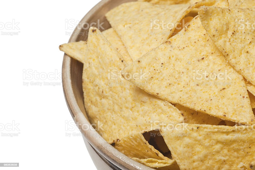 tortilla chips in bowl royalty-free stock photo