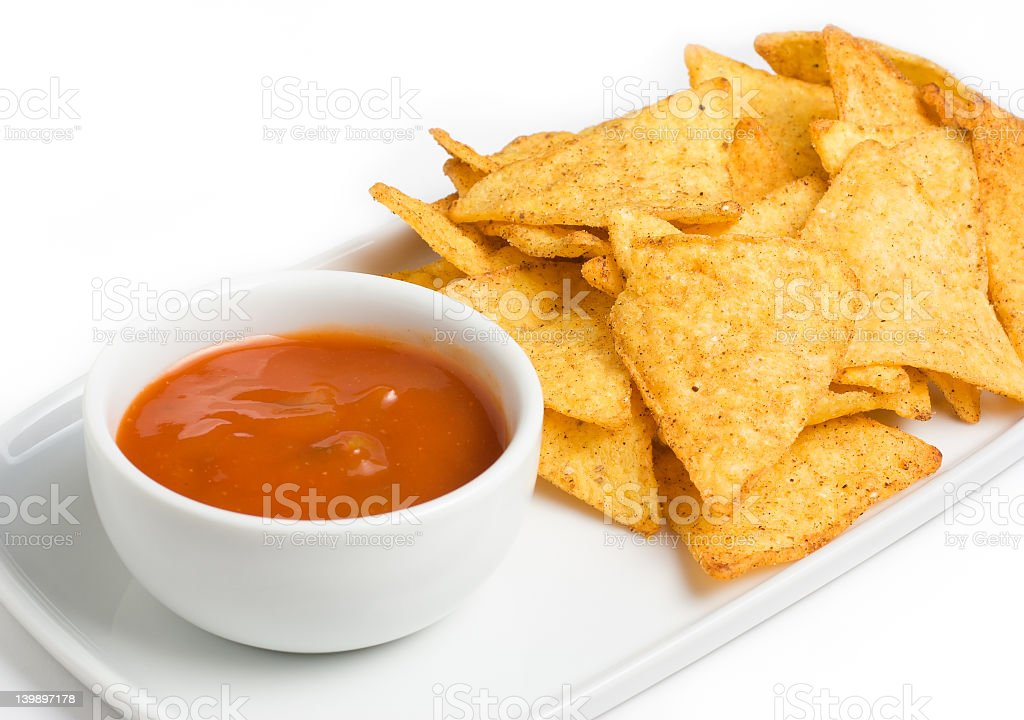 Tortilla chips royalty-free stock photo