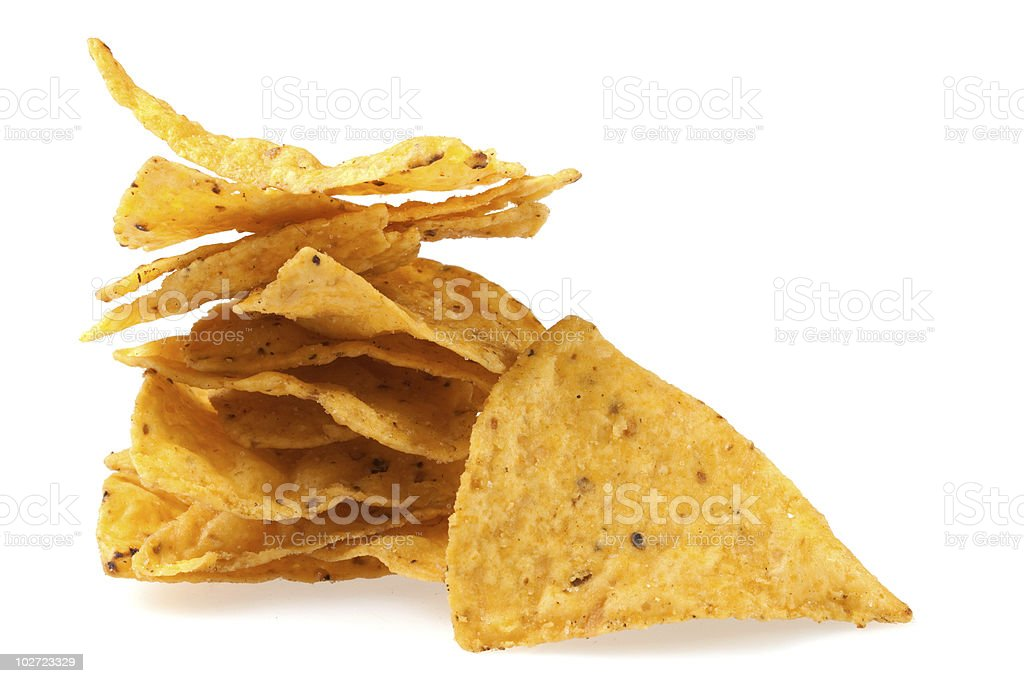 Tortilla chips slices royalty-free stock photo