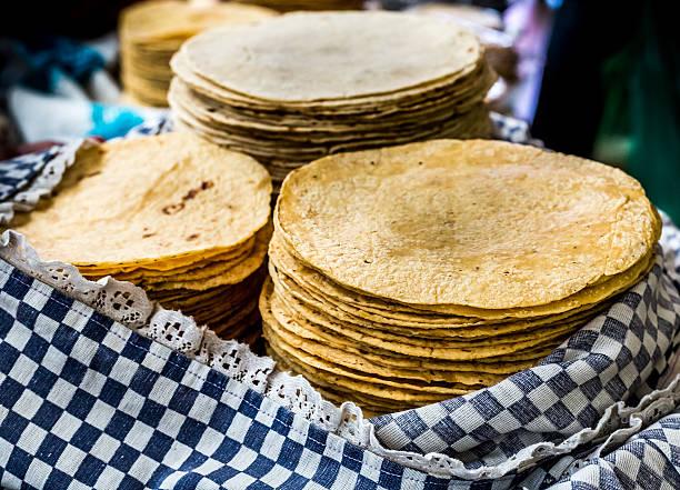 tortilla close-up - tortilla stock photos and pictures