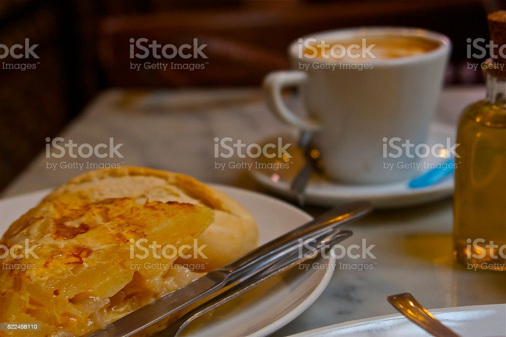 Tortilla de Patata jugosa stock photo