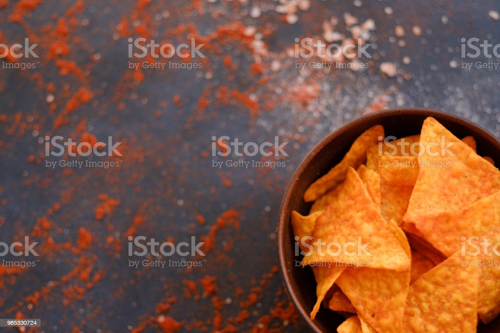 tortilla nacho chip food snack salt pepper mix royalty-free stock photo