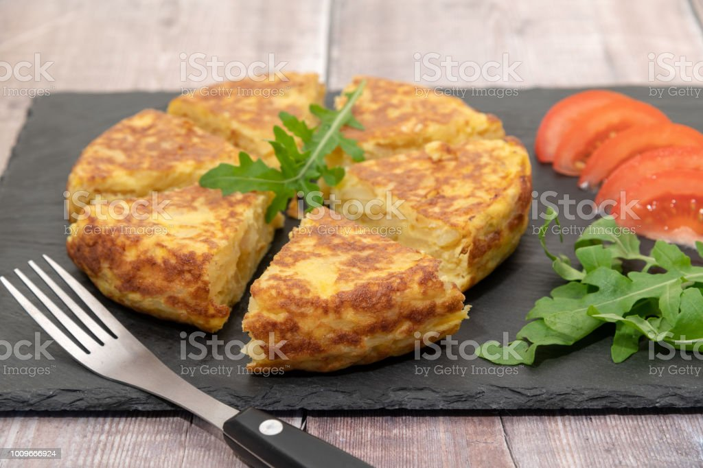 Tortilla or Spanish Omelette stock photo