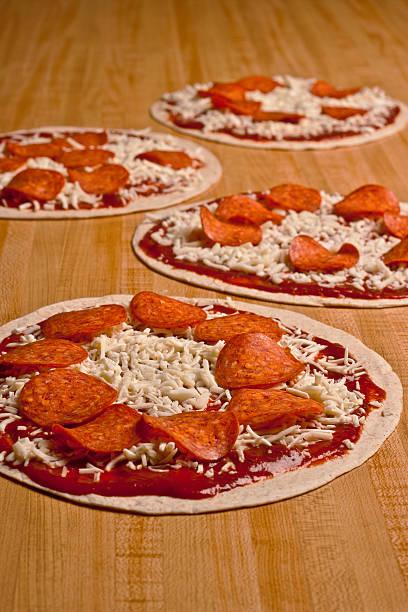 Tortilla Pizzas DOF stock photo