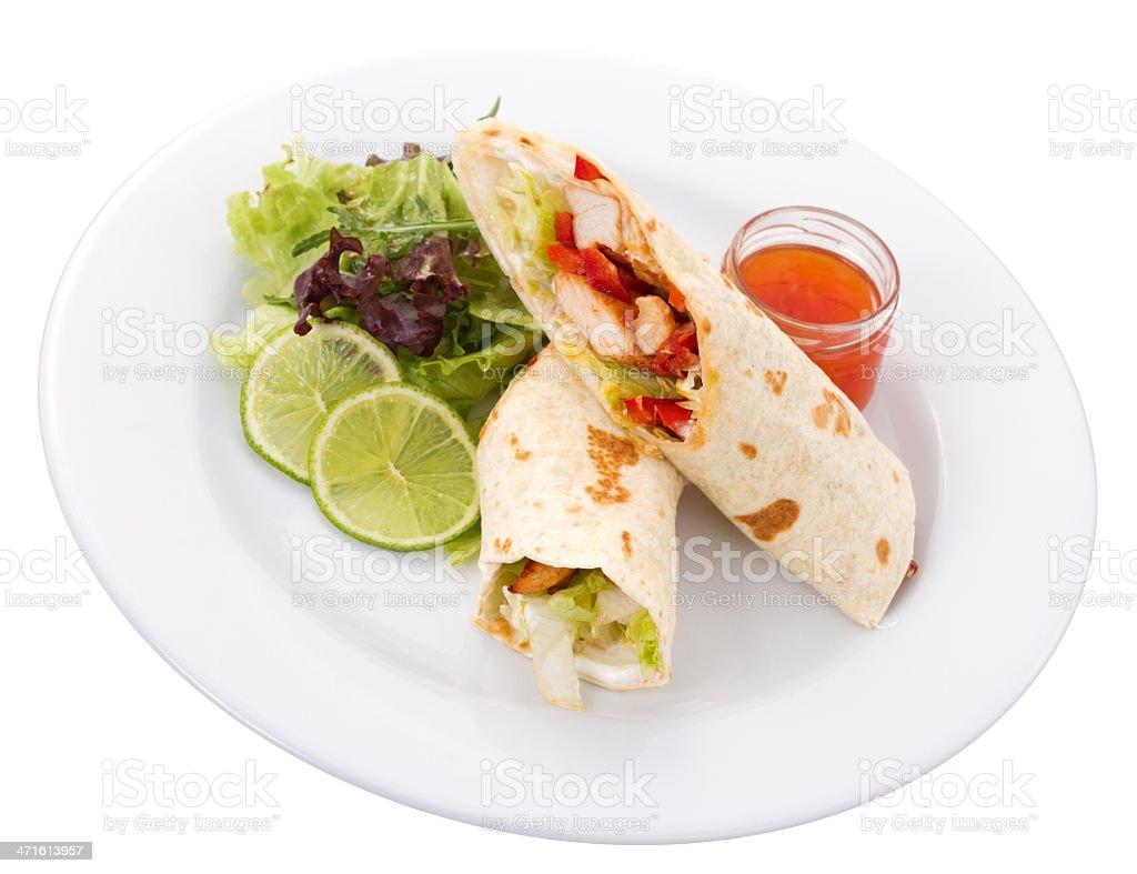 Tortilla Plate royalty-free stock photo