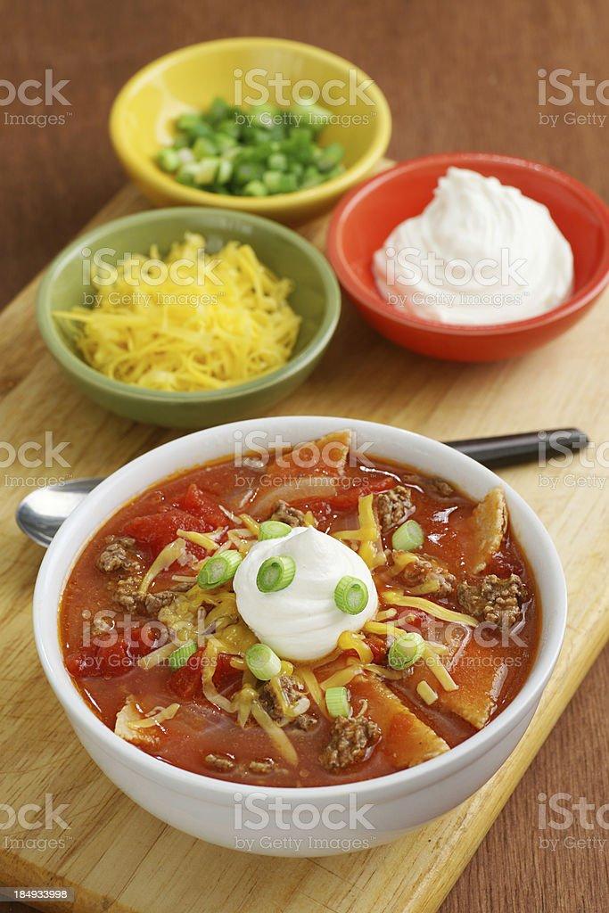 Tortilla-Suppe Lizenzfreies stock-foto