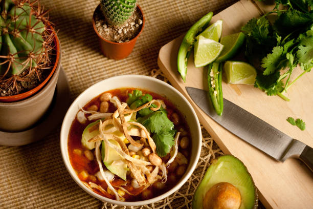 tortilla soppa - cactus lime bildbanksfoton och bilder