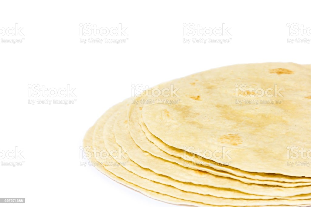 Tortillas tacos on a white background stock photo