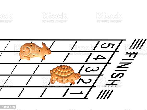 Tortoise and hare racing with animal shaped biscuits concept picture id468984186?b=1&k=6&m=468984186&s=612x612&h=i9bbty7xpyx97rbjd85zzlzwws6yklyfhsz0v3rfs5e=