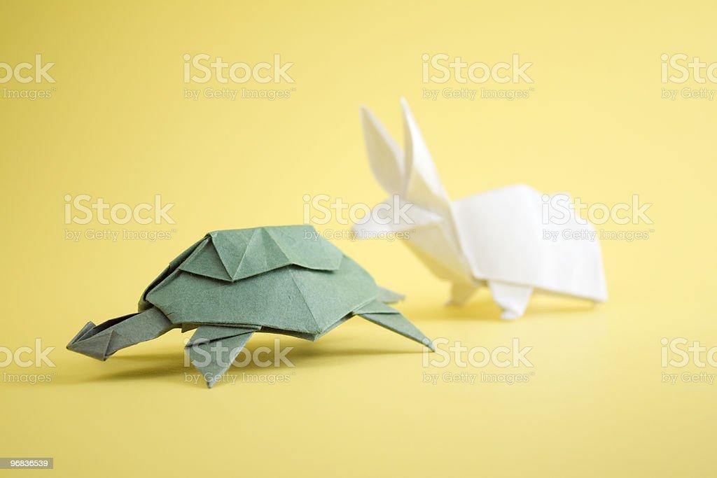 Schildkröte und Hase - Lizenzfrei Der Hase und die Schildkröte Stock-Foto