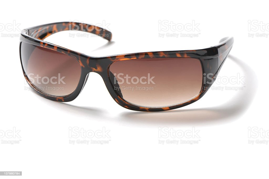 Tortoise Shell Sunglasses Isolated on White Background royalty-free stock photo