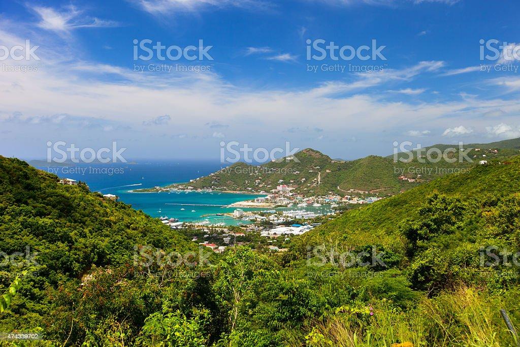 Tortola aerial stock photo