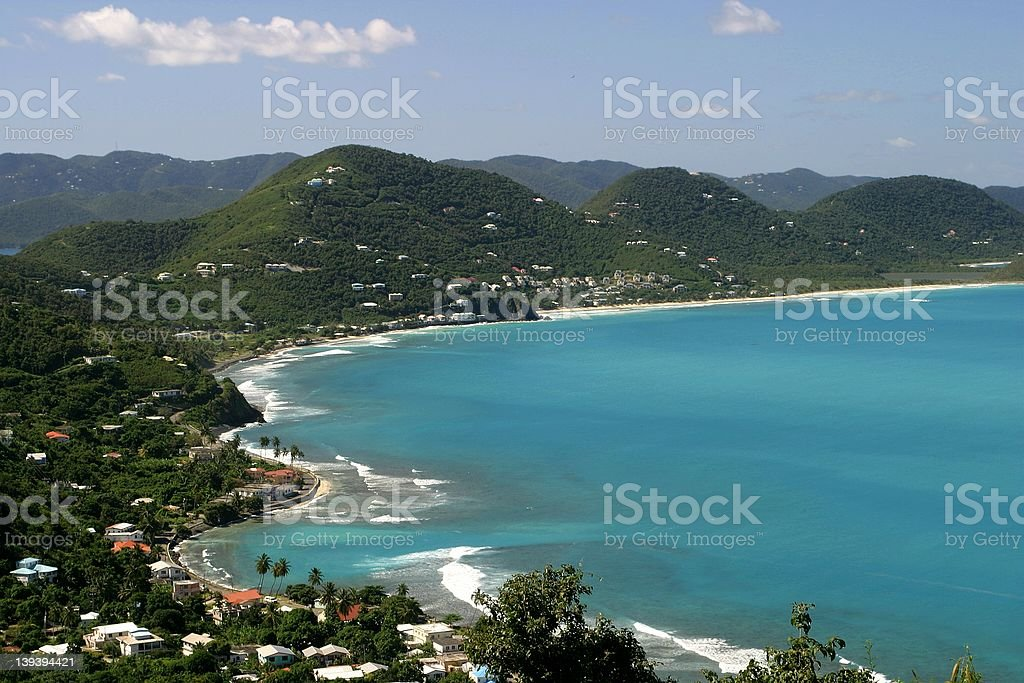 Tortola Coastline royalty-free stock photo