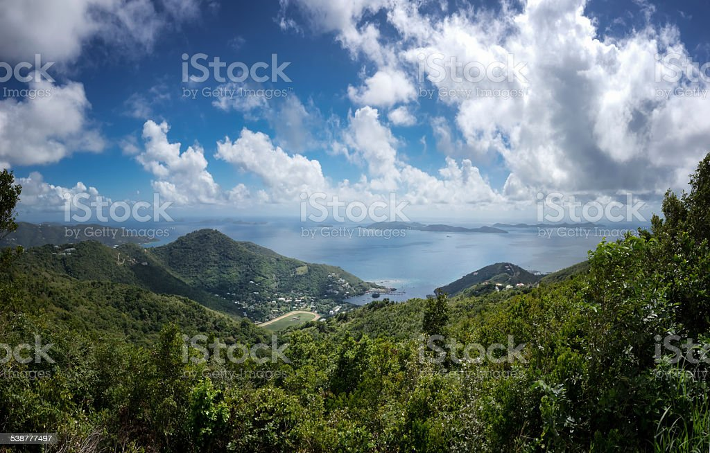 Tortola View Pano Shot stock photo