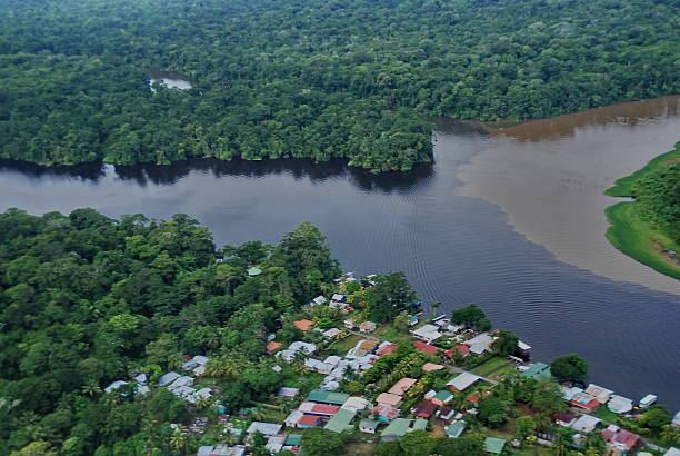 Tortuguero Village in Costa Rica stock photo