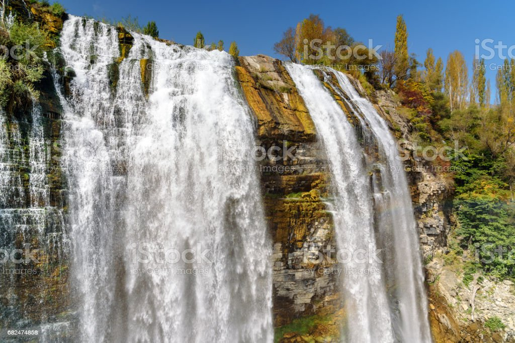 Tortum waterfall in Eastern Anatolia Region of Turkey royalty-free stock photo