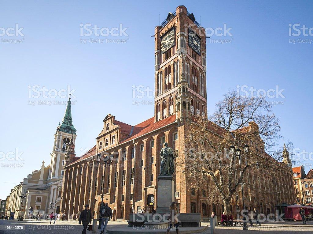 Toruń市庁舎ピンぼけ - トルンのロイヤリティフリーストックフォト
