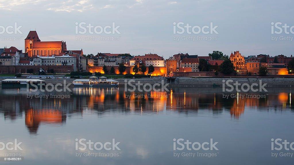Torun (Poland) in the sunset stock photo
