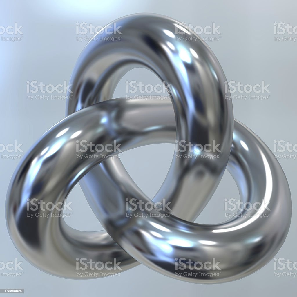 torus knot stock photo