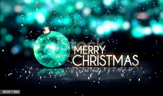 istock Tosca Silver Merry Christmas Bokeh Beautiful 3D Background 502517630
