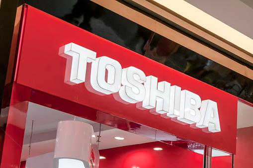 Toshiba Computer Shop Stock Photo - Download Image Now