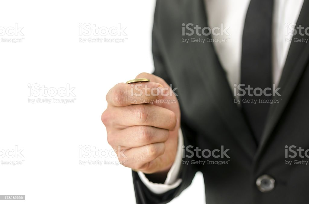 Toss a coin royalty-free stock photo
