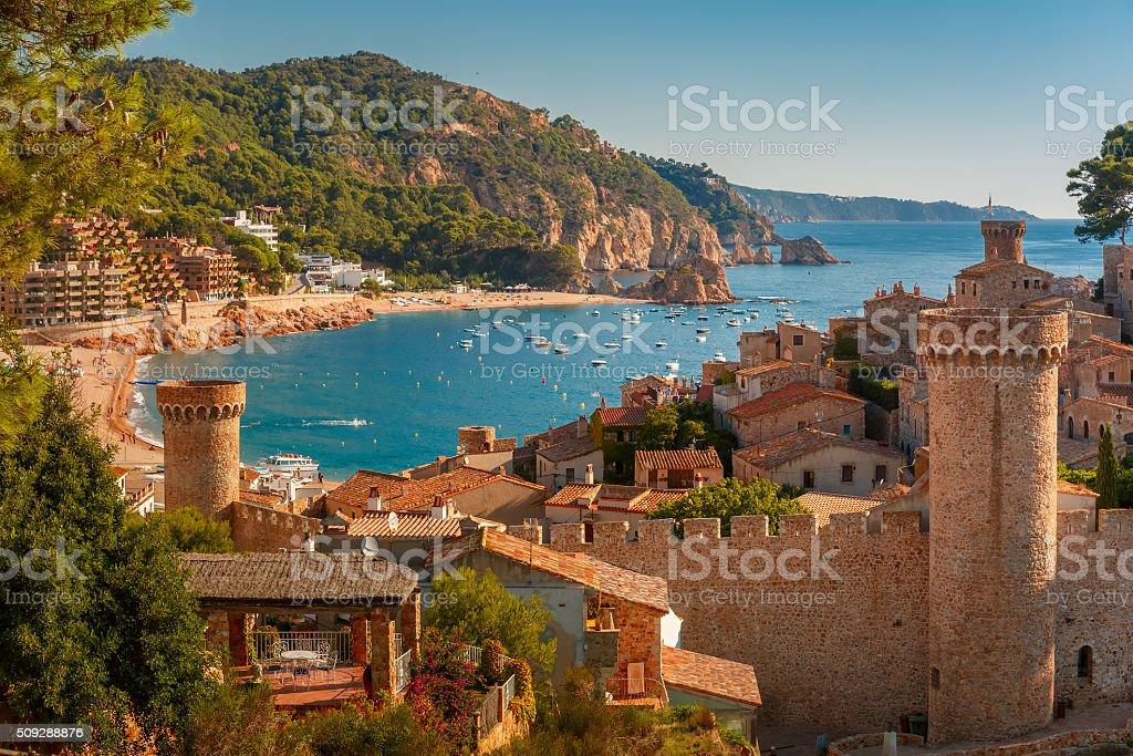 Tossa de Mar on the Costa Brava, Catalunya, Spain - Royalty-free Ancient Stock Photo